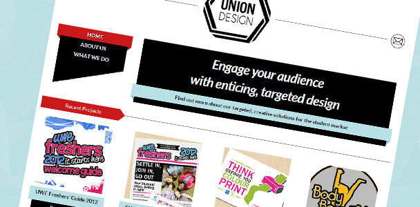 Homepage of Union Design